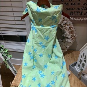 Darling Lilly Pulitzer strapless dress! Size 8💚